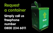 Request a container. Simply call us. Freephone number 0800 234 6011